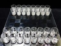 Пьяные шахматы (Стекло, 1 рюмка расколота)