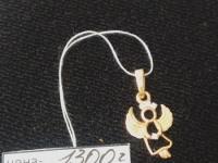 Подвеска ангелочек Золото 585 (14K) вес 0.73 г