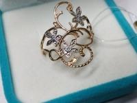Кольцо с камнями  Золото 585 (14K) вес 2.55 г