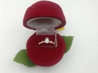 Кольцо с камнями  Золото 585 (14K) вес 1.57 г