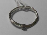 Кольцо с белым камнем (белое золото)бриллиант Золото 585 (14K) вес 1.61 г