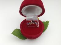 Кольцо с камнями  Золото 585 (14K) вес 2.10 г