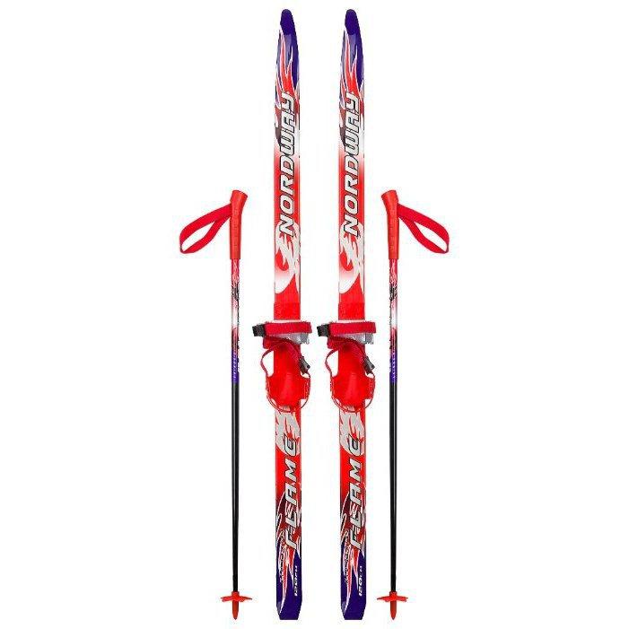 Беговые лыжи NORDWAY Flame с палками, с креплениями