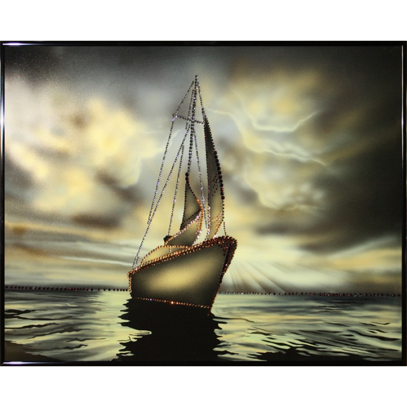 Картина с кристаллами Swarovski «Морской закат»
