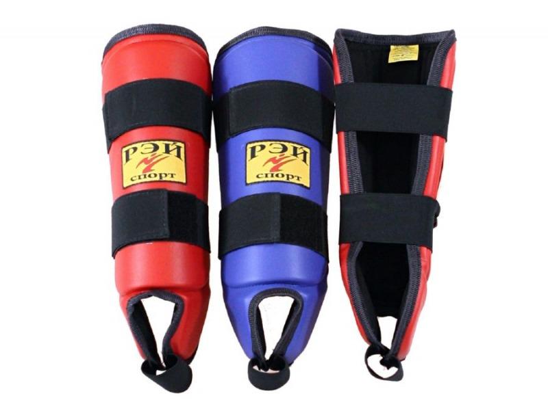 Щитки на ноги для единоборств Рей-спорт