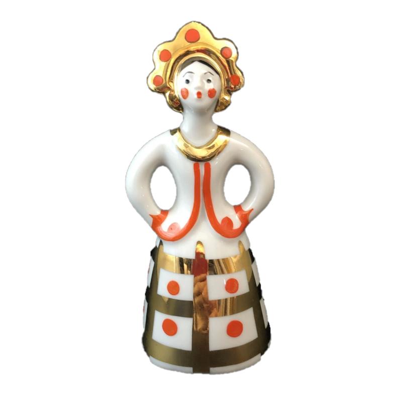 Фарфоровая статуэтка «Девушка в кокошнике»