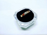 Кольцо 6 бриллиантов Золото 585 (14K) вес 3.96 г