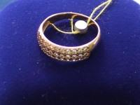 Кольцо с камнями  Золото 585 (14K) вес 2.50 г