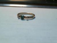 Кольцо с зелен камнем Золото 585 (14K) вес 2.30 г