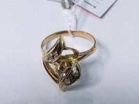 Кольцо с 5-ю белыми камнями Золото 585 (14K) вес 2.81 г