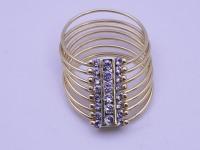 Кольцо многокольцевое с камням Золото 750 (18K) вес 7.30 г