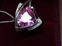 Кольцо с розовым камнем. Золото 585 (14K) вес 7.04 г