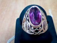 Кольцо с камнем Золото 585 (14K) вес 6.07 г