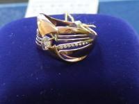 Кольцо с камнями  Золото 585 (14K) вес 3.09 г