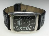 Часы наручные женские Ника, серебро 925 черн.циферблат,на ремне,царап.стекло,б/у,п/ц