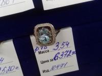 Кольцо с камнями  Золото 585 (14K) вес 3.54 г