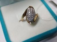 Кольцо с камнями Золото 585 (14K) вес 3.01 г