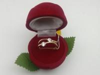 Кольцо  с камнями Золото 585 (14K) вес 3.52 г