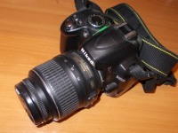 Фотоаппарат nikon D3000, б/у, п/ц, с з/у, в пакете