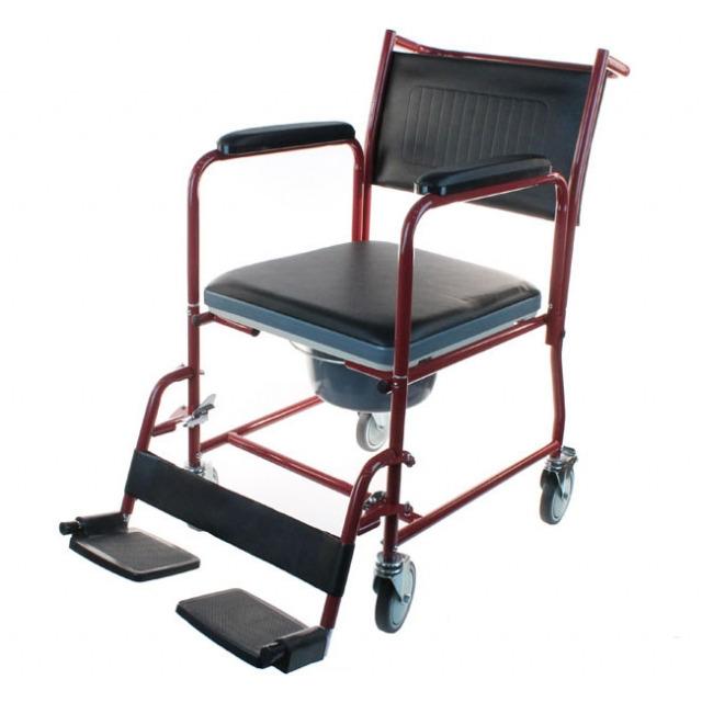 Кресло-каталка инвалидная LY-800 (800-154) со съемным туалетным устройством