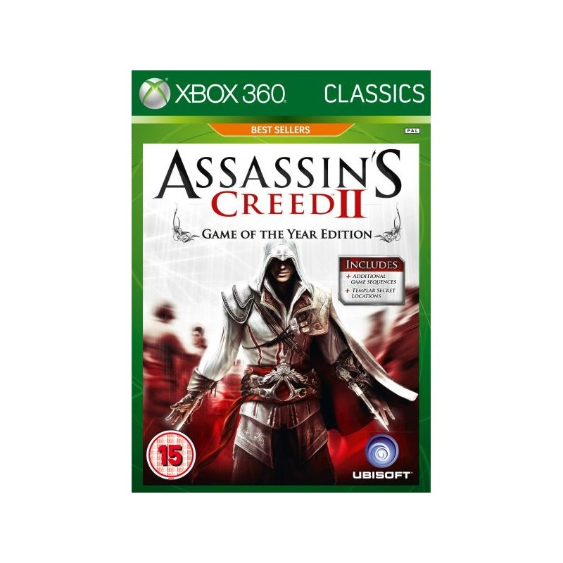 Диск Xbox-360  Assasin Creed II