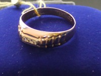 Кольцо с камнями  Золото 585 (14K) вес 2.23 г