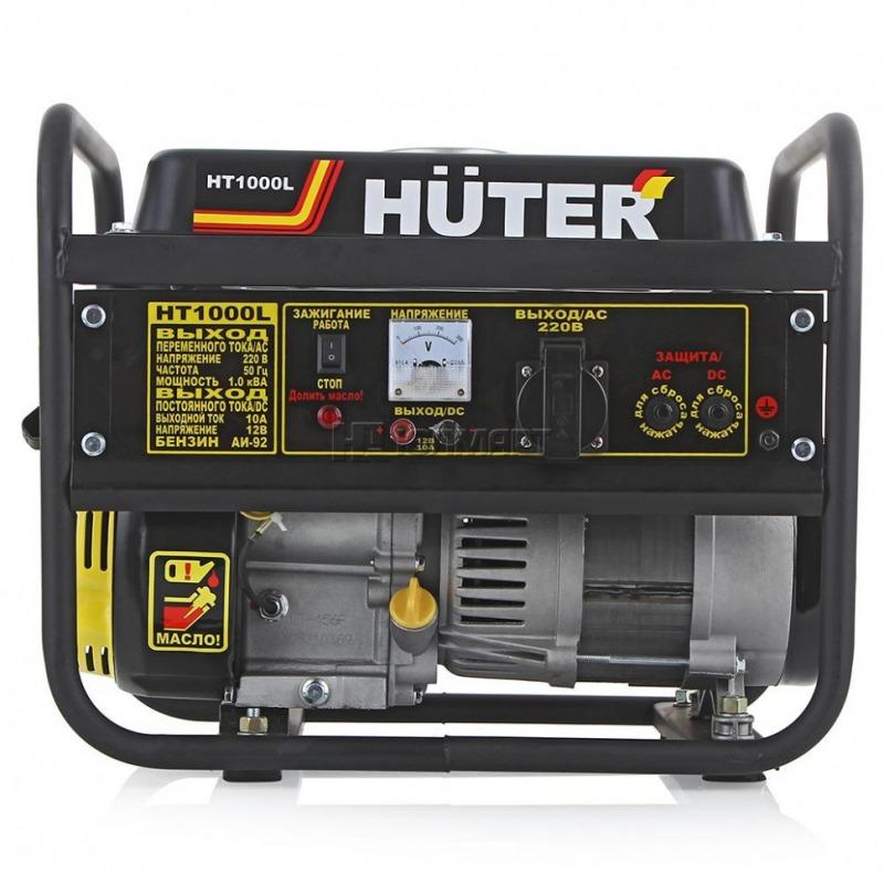 Бензиновый генератор Huter HT1000L (1000 Вт)