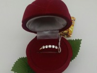 Кольцо с камнями  Золото 585 (14K) вес 1.02 г