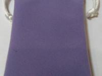 Мешочек прямоугольный(сиреневый,белый шнур)