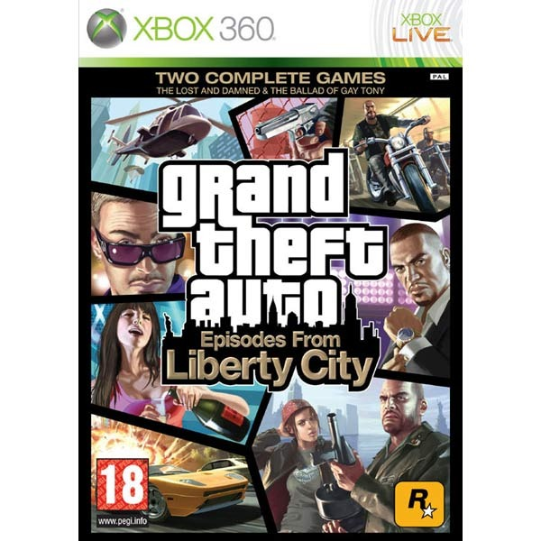 Диск Xbox 360  GTA: Episodes From Liberty City