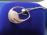 Кольцо с камнями  Золото 585 (14K) вес 3.30 г