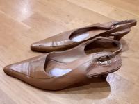 Туфли кожаные EMO (рыжие)