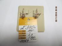 Серьги с синт.вставками б/у ,п/ц Золото 585 (14K) вес 1.37 г