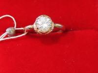 Кольцо кристалл сваровски Золото 585 (14K) вес 2.75 гр.