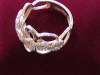 Кольцо с фианитами Золото 585 (14K) вес 3.89 г