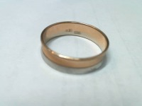 Кольцо обруч  Золото 585 (14K) вес 2.28 г