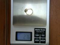 Кольцо с мелкими вставками Золото 585 (14K) вес 2.76 г