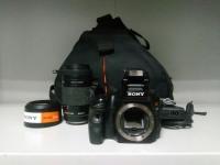 Фотоаппарат Sony Alpha SLT-A57 +объективSony SAL-75300 +з\у в сумке