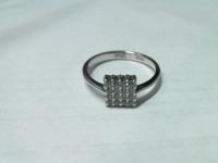Кольцо бел/зол с камнями новое Золото 585 (14K) вес 1.93 г