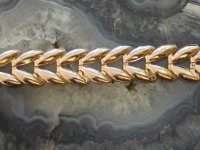 Браслет бисмарк (пустотелый) Золото 585 (14K) вес 6.26 г