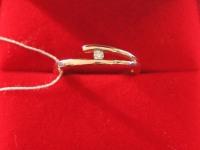 Кольцо брилл. 1шт кр-57  0,04ct Золото 585 (14K) вес 2.60 г