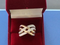 Кольцо с белыми камнями. Золото 585 (14K) вес 3.77 г