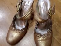 Туфли кожаные rosstile золотые