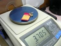 Серьги с мелкими синт. вставками Золото 585 (14K) вес 3.35 г