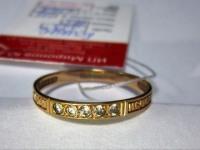 Кольцо спаси и сохрани с 5-ю бел.кам Золото 585 (14K) вес 1.11 гр.