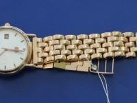 Часы муж. с золотым браслетом ''PLATINOR'' Золото 585 (14K) вес 56.12 г