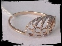 Кольцо Золото 585 (14K) вес 1.30 гр.