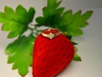 Кольцо с камнями Золото 585 (14K) вес 1.72 г