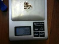 Брошь с камнями Золото 585 (14K) вес 3.00 г