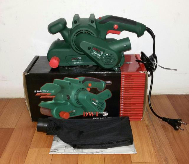 Ленточная шлифмашина DWT BS 7-75 V в коробке